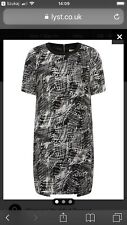 Whistles Scribble Print Dress Black And White Tunic Size 12