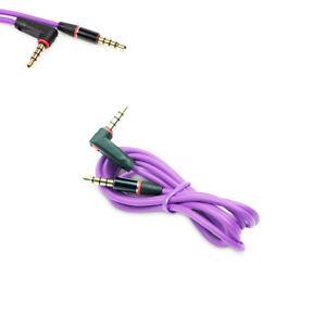 4FT 3.5MM AUX AUXILIARY L-SHAPE AUDIO CABLE PURPLE FOR NOKIA LUMIA 1520 Z10 Z30