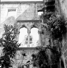 KORČULA c. 1960 - Maison Natale Marco Polo Yougoslavie - Négatif 6 x 6 - YOUG 19