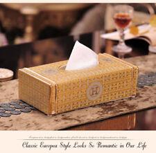 Luxury gold tone ceramic home decor removable napkin storage handmade tissue box