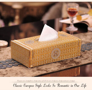 Luxury gold tone ceramic home decor removable napkin storage handmade tissue box