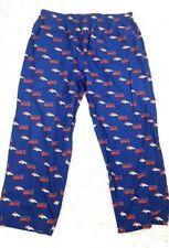 NFL Team Denver Bronco Men's 2XL Blue Printed Pajama Pants