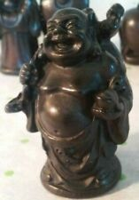 Buddha Standing Small Figurine Resin Statue Decor (The Look Of Carved Ironwood)