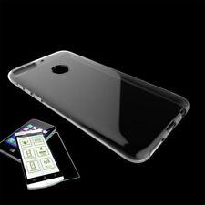 Für HTC Desire 12 Plus Silikoncase Transparent Tasche + 0,3 H9 2.5 D Glas Hülle