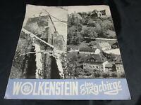 Broschüre Reiseführer Werbung für Wolkenstein/Erzgebirge Warmbad