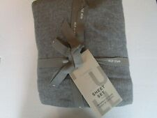 West Elm  Flannel sheet set full gray gray New with tags
