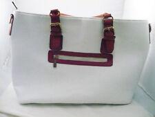 VGC Imoshion luxury vegan satchel handbag purse white rust crocodile look handle