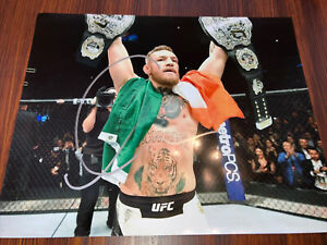conor mcgregor signed 8x10 with COA