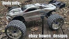 Custom Painted RC Body Shell E Revo Traxxas 1/10 Silver,Dirty Chrome,Bare Metal