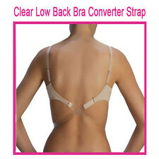 Clear Low Back Bra Strap ~ FLESH ~  Low Back Bra Converter Strap ~ ONE SIZE