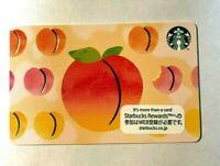 Starbucks Japan Card 2020 Peach Parade PIN intact rare cute round and round peac