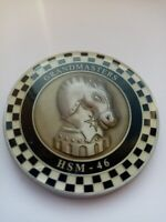 CHALLENGE COIN ARMY USA GRANDMASTERS HSM 46 PRESENTED BY THE COMMANDING OFFICER