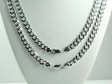 "30"" 8.5mm Italian Solid 925 Sterling Silver Cuban Link Curb Chain Necklace Mens"