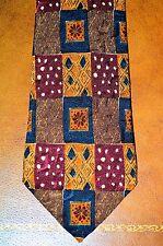 New Classic Vintage Ermenegildo Zegna Hand Woven Silk Tie Blue/Brown Italy