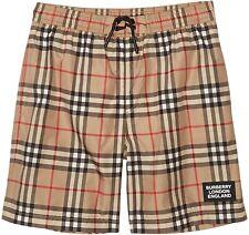 BURBERRY Kids Boy's 246872 Kameron Check Swim Shorts Swimwear Size 12Y