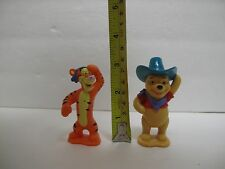 Winnie the Pooh and Tigger Too Plastic Action Figures Figurines or Cake Toppers