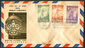 1959 Philippines 10th World Jamboree First Day Cover A