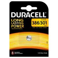 DURACELL Pila Batteria a Bottone 386/301 SR43 V386 V301 1.5V Ossido di Argento