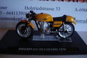 Ducati 350 Mk 3 Desmo 1974 Yellow -topmodell 1:24