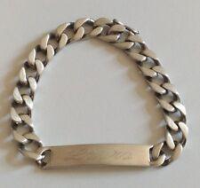 Bracelet argent massif maille gourmette 8 mm/ prénom LAURA