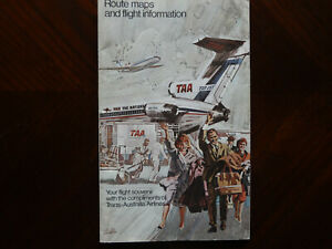 VintageTAA route maps booklet 1966 rare, Great Queensland, new Guinea maps