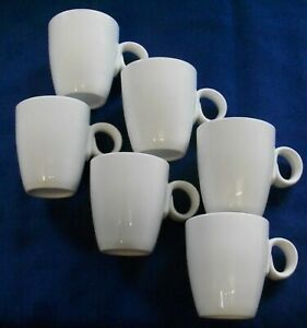 6 EXCELLENT & SUPERB WHITE CHINA ESPRESSO/DEMITASSE CUPS