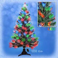120 cm LED Weihnachtsbaum mit Stern 8 Lichtprogrammen farbwechselnde Lichtfasern
