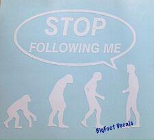 Funny Evolution Decal Ape Man Monkeys Human Car Truck SUV Window Vinyl Sticker