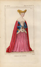 COSTUME DE LA FRANCE XVe / Catherine de Vendome