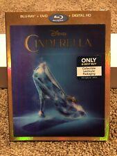 Cinderella (2015) Blu Ray/DVD w/ Best Buy Exclusive Lenticular Slipcover