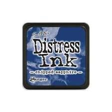 Tim Holtz Mini Distress Ink Pad Chipped Sapphire Blue, Navy, Marine
