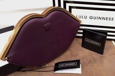 LULU GUINNESS DAMSON LEATHER ICONIC LIP SHAPE FRAMED PURSE CLUTCH RETAIL £170