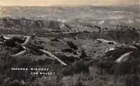 Real Photo Postcard View of Topanga Highway and Valley, California~116283