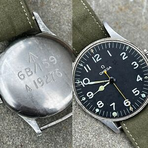 1939 Omega Ref 2292 British Military Ordinance 30t2 Mil Spec Movement Working!