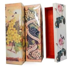 Mulberry Paper Gift Boxes for Wine Bottles Imported from Thailand Set of 3