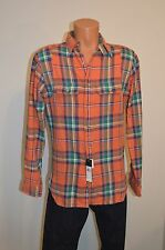 New $125 Polo Ralph Lauen Orange/Green/Blue Plaid Lumberjack Small S