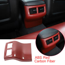 Kit For Dodge Challenger 2015-20 Rear Air Vent Outlet Cover ABS Red Carbon Fiber