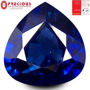 Superb Certified 1.13ct Pear Cut Dark Blue Transparent Sapphire.