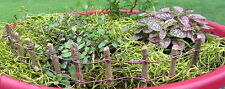 Dollhouse Miniature or Fairy Garden Resin & Wire Woodland Fence Section