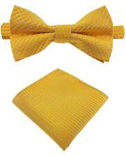 Fliege + Einstecktuch Schleife Smokingfliege Binder de Luxe 180 gold Krawatten