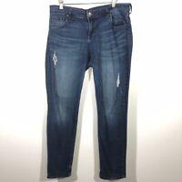 Kut From The Kloth Size 12 Catherine Slouchy Boyfriend Jeans Distressed Denim