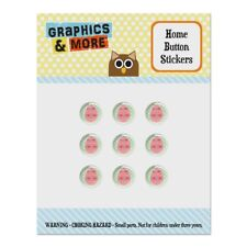 Cute Easter Egg Pink with Hearts Home Button Stickers Fit Apple iPhone