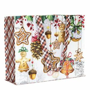 Michel Design Works Cotton Tote Bag 17x14x6 Christmas Cookies Holiday Treats