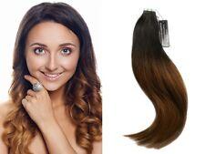 OMBRE Balayage Tape Extension Haarverlängerung Doppeltgezogene Echthaar #1B/ 6