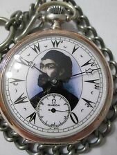 ANTIQUE Ω OMEGA OMAR PASHA SOLID SILVER pocket WATCH 15 jewels 19LB SWISS MADE
