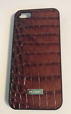 NWT BRAHMIN  Pecan Brown iPhone 5 5S Case  Melbourne Leather Mock Croc