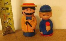 BARBERSHOP QUARTET rubber finger-puppet figure 1980s moustache w/ ice cream kid