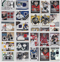 Goalie Game Used Jersey Cards - Choose From List - Numbered Rookies NHL Hockey