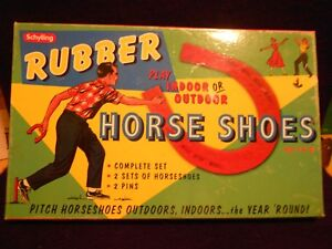 Schylling Indoor Or Outdoor Game Rubber Horse Shoes in box