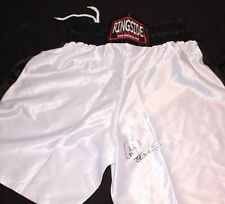 GEORGE FOREMAN AUTOGRAPHED SIGNED RINGSIDE BOXING TRUNKS